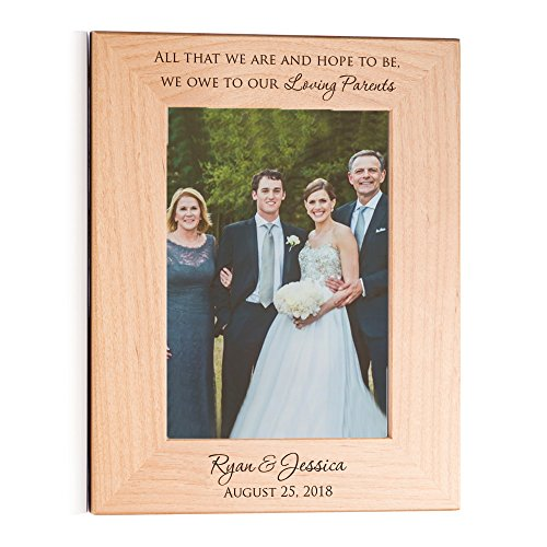 Lifetime Creations Personalized Parents of The Bride & Groom Picture Frame, Personalized Parents Wedding Gift, Custom Engraved (5