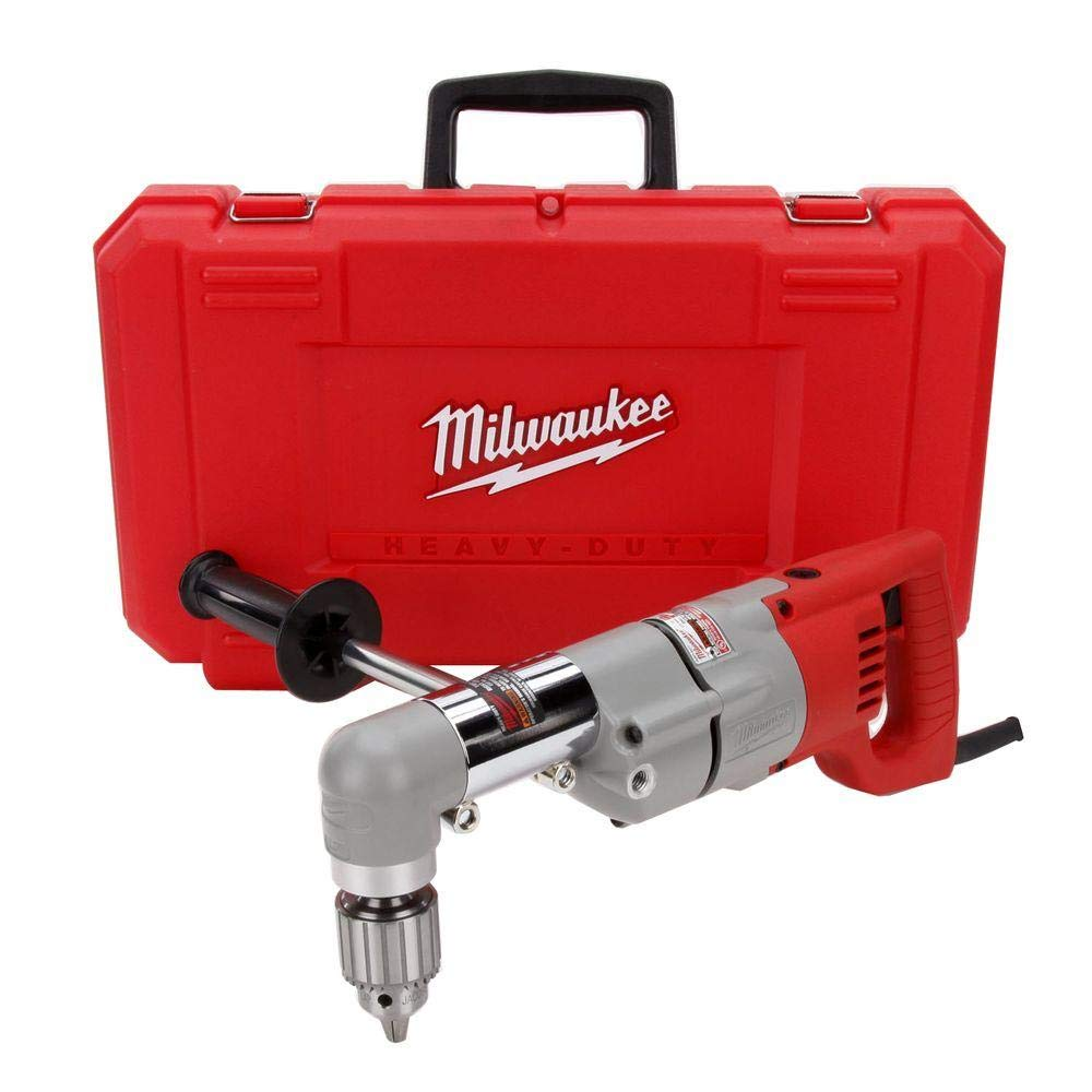 Milwaukee 3102-6 Plumbers Kit 7 Amp 1/2-Inch Right Angle Drill with D-Handle by Milwaukee