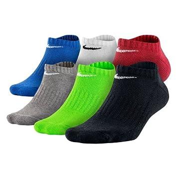 Nike 6PPK Band CTN NSHW-Boys L Pack 6 Pares de Calcetines, Niños, Rojo, Talla Única: Amazon.es: Deportes y aire libre