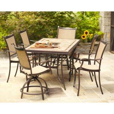 Charmant Hampton Bay Westbury 7 Piece Patio High Furniture Dining Set, Seats 6