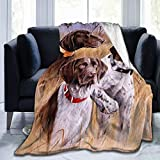 Ultra-Soft Micro Fleece Blanket for Men Women,German Short-haired Pointer Dog Throw Blanket-Soft Coral Flannel Blanket Micro Fleece Blanket Give Her Gifts-Soft Blanket Home Bed Blankets 80