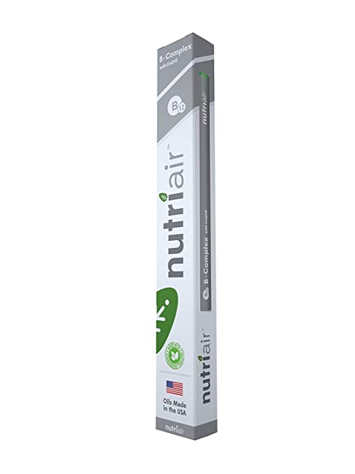 Amazon.com: Nutriair B-Complex B12 Inhaler - Nutritional Aromatherapy Pen with CoQ10 – Essential B Vitamin/Energy Supplement - B12, B6, B2, B1 - Nicotine ...