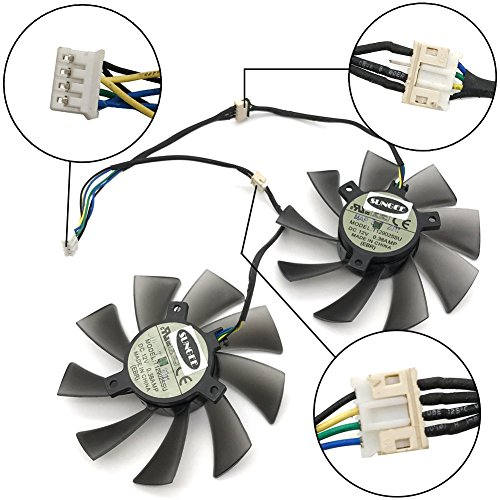 T129025SU 12V 0.38A 4PIN for ASUS HD7970 HD7950 GTX680 DirectCU II fan (2PCS/LOT) by Z.N.Z (Image #2)
