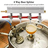 Fiesta Muti-Way Home Co2 Air Gas Manifold Distribution Splitter Beer 4 Way