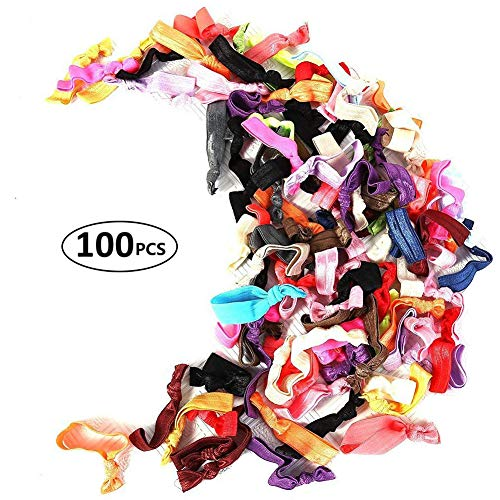 - Susufaa 100 Pcs / Lot Candy Color Ribbon Ponytail Holder Yoga Twist Elastic Band or Hair Ties Hair Accessories