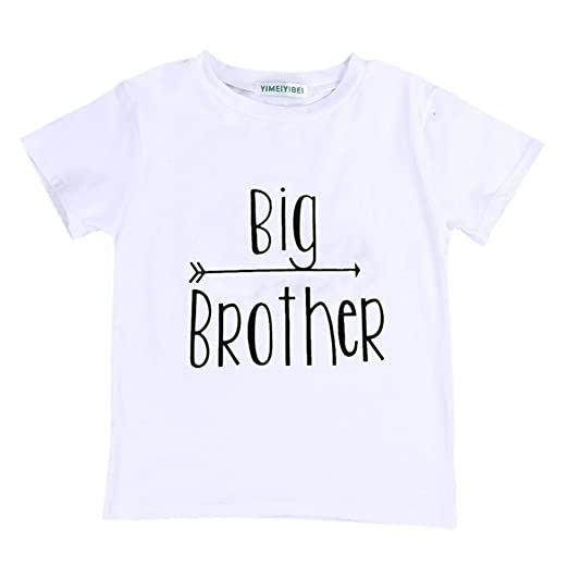 Amazon.com  Summer Kids Baby Boy Little Brother Romper  Big Brother T-Shirt  Tops Matching Shirts  Clothing 80f0a25bb8a7