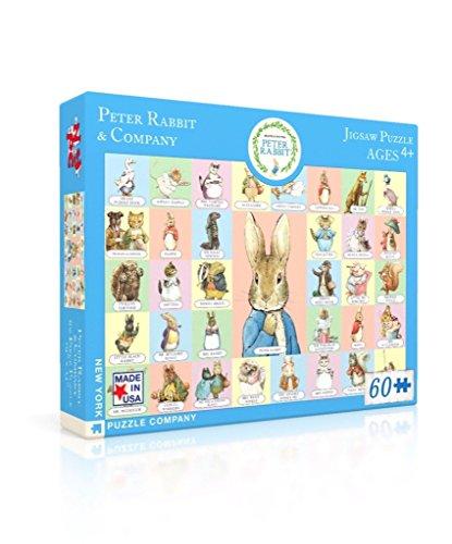New York Puzzle Company - Beatrix Potter Peter Rabbit & Co - 60 Piece Jigsaw Puzzle by New York Puzzle Company (Image #1)