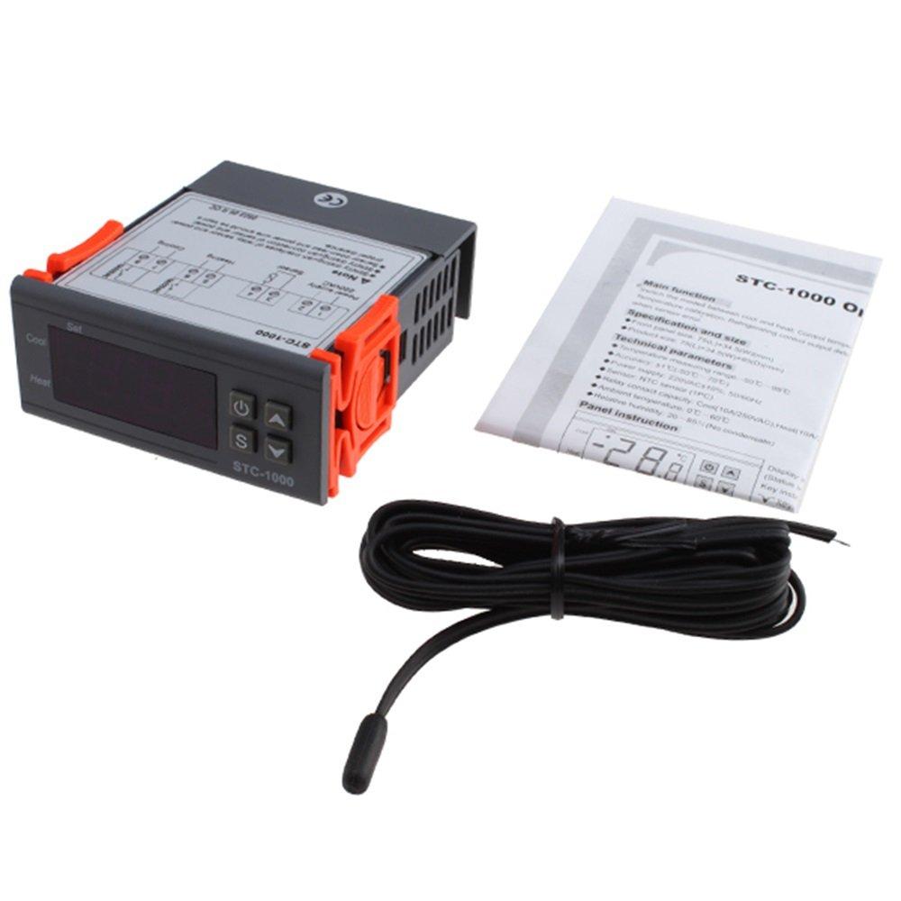 Agptek All Purpose Temperature Controller Stc 1000 With Sensor Wiring Diagram Battery Lighting
