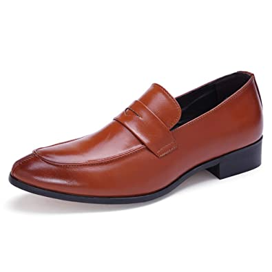 Moda Salvaje para los Hombres Zapatos Formales Deslizarse en ...