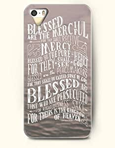 iPhone 5 5S Case OOFIT Phone Hard Case ** NEW ** Case with Design Blessed Are The Merciful For They Shall Receive Mercy Blessed The Pure Heart For They Shall See God Blessed Are The Peacemakers For They Shall Be Called Sons Of God Blessed Are Those Who Are Persecuted For Righteousness Sake For Theirs Is The Kingdom Of Heaven Matthew 5:7-10- Bible Verses - Case for Apple iPhone 5/5s