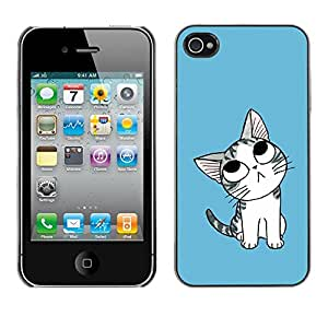 Cubierta de la caja de protección la piel dura para el Apple iPhone 4 / 4S - Bullseye Bulls Eye Match Target