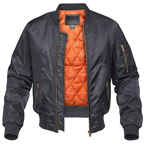 CRYSULLY Men's Jacket-Fall Winter Thicken Windbreakers Bomber Jackets Padded Coats