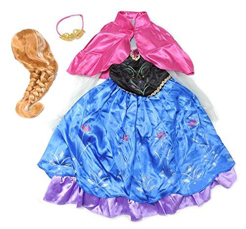Disney Frozen Anna Girls Size Small(4-6X) Deluxe Child Costume, Multi-Color