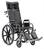 STD16RBDDA - Sentra Reclining Wheelchair, Detachable Desk Arms, 16 Seat