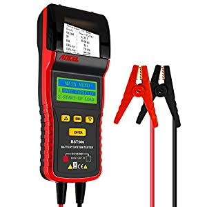 ANCEL BST500 12V/24V 100-2000 CCA Automotive Battery Load Tester, Car Cranking and Charging System Analyzer Scan Tool with Printer for Heavy Duty Trucks, Cars, Motorcycles and More