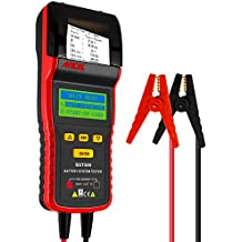 ANCEL BST500 12V/24V 100-2000 CCA Automotive Battery Load Tester, Car Cranking and Charging System Analyzer Scan Tool with Printer for Heavy Duty Trucks, Cars, Motorcycles and More -Black/Red