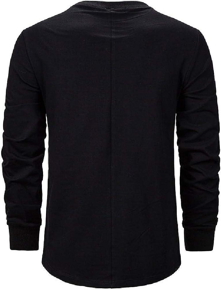 Abetteric Men Splicing Zipper Pocket Long Sleeve Slim Activewear Sweatshirt