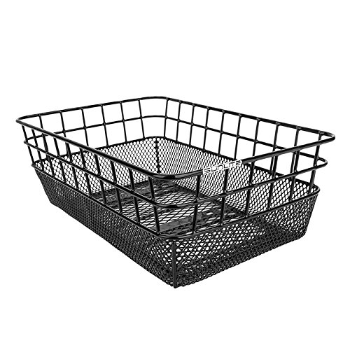 Sunlite Rack Top Wire/Mesh Basket, 10.25 x 15 x 5″, Black