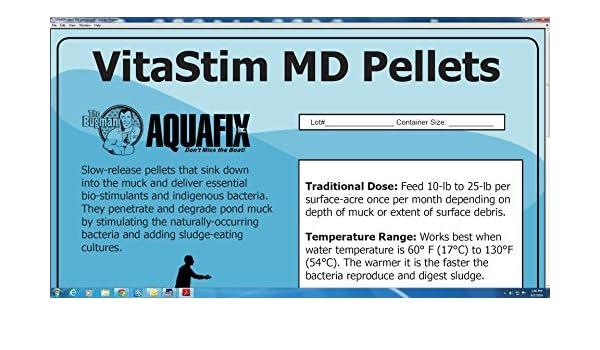 vitastim MD Pellets - agua Jardín y estanque inferior Muck ...