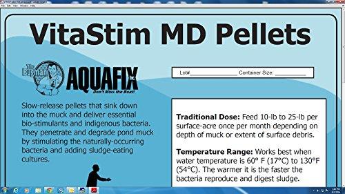 Pond 10 Pellets - VitaStim MD Pellets - Water Garden & Pond Bottom Muck Reducer - 10 lb