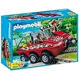 Playmobil - 4844 - Jeu de construction - Véhicule amphibie avec explorateurs