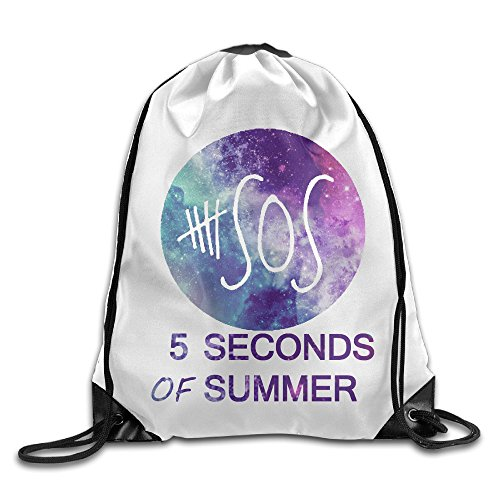 MGTER66 Backpack Gymsack Sport Bag 5sos White
