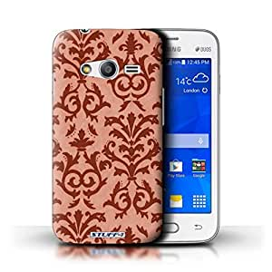STUFF4 Phone Case / Cover for Samsung Galaxy Ace 4 Lite/G313 / Red Design / Scroll Pattern Collection