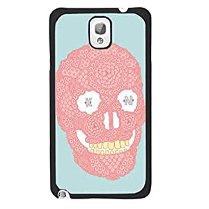 Pink Cute Skull Monogrammed Mint Green Cover Case for Samsung Galaxy Note 3 N9005 Ultra Thin Fashion Protective Cell Phone Case