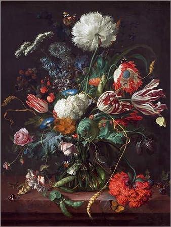 Posterlounge Hartschaumbild 30 x 40 cm: Vase mit Blumen von Jan Davidsz de Heem