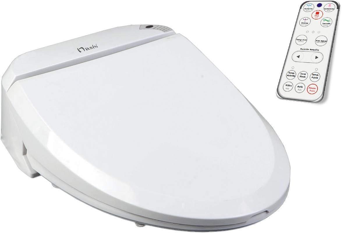 Nashi Deluxe Tapa Inodoro Bidet, Asiento Sanitario japonés Inteligente, WC para baño con Ducha eléctrica