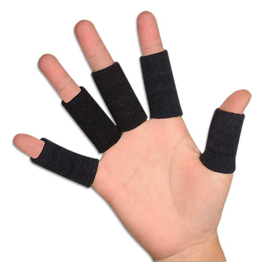 Tcplyn 10PCS Anti-Slip Sports Finger Cover Thumb Protector Sleeve Elastic Arthritis Finger Braces Sports Aid for Basketball Tennis etc by Tcplyn (Image #5)