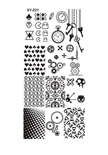 12x6cm 32 Designs Fashion/Beauty Pattern Steel Stamping Nail Art DIY Polish Printing TRXY-Z01-32,XYZ21 ()