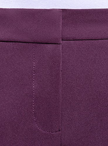 Pantaloni Oodji Con Donna Viola Pieghe Collection 8803n Basic qwCwgEO