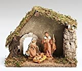 4-Piece Fontanini 5'' Religious Christmas Nativity Starter Set with Italian Stable #54710