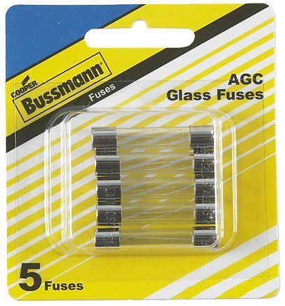 Fast Single Strand - Bussmann BP/AGC-6-RP AGC 6 Amp Fast-Acting Glass Tube Fuses 1/4
