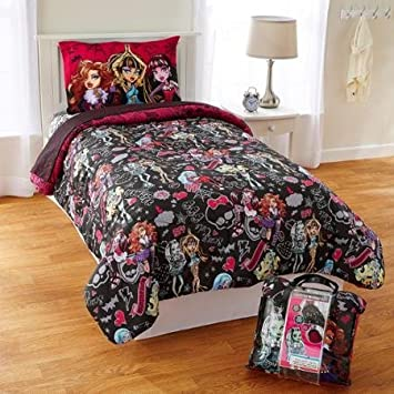 Amazon Com Cool Monster High Monster Crew 4 Piece Twin Bed Set Baby