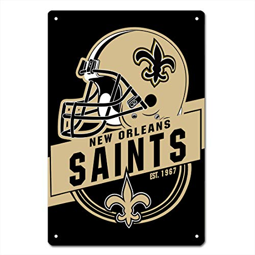 - MamaTina Cool New Orleans Saints American Football Team Design Metal Tin Signs for Home Wall Decor Size 12x8 Inches