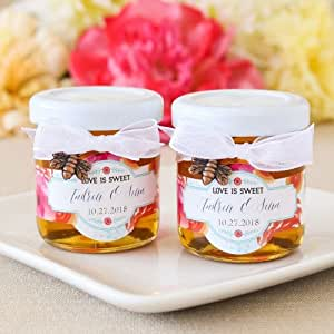 """Meant to Bee"""" Mini Personalized Honey Jars"""