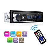 Wikoo Car Stereo with Bluetooth,In-Dash Single Din Car Audio Stereo Receiver, Remote Control Car Radio Receiver,MP3/WMA Player,USB/SD Card/AUX Wireless Remote Control Digital Media Receiver (Black)