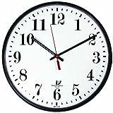 Chicago Lighthouse 12.75'' Slimline Electric Wall Clock, Black