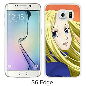 Popular And Unique Designed Cover Case For Samsung Galaxy S6 Edge With Arakawa Under The Bridge Nino Girl Blond Wind white Phone Case