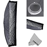 Fomito 35 X 160cm / 13.78 X 63 Studio Lighting Photo Softbox Bowens Mount with Honeycomb Grid For Light Flash,for Godox,for Jinbei,for Neewer Strobe/Flash Light and Other Studio Flash Light