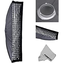 "Fomito 35 X 160cm / 13.78"" X 63"" Studio Lighting Photo Softbox Bowens Mount with Honeycomb Grid For Light Flash,for Godox,for Jinbei,for Neewer Strobe/Flash Light and Other Studio Flash Light"