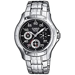 Casio Edifice Measures-Seconds Analog Black Dial Men's Watch
