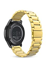Gear S3 Watch Band, MoKo Stainless Steel Metal Replacement Smart Watch Strap Bracelet for Samsung Gear S3 Frontier / S3 Classic / Moto 360 2nd 46mm Smartwatch, GOLD (NOT FIT S2 & S2 Classic & Fit2)