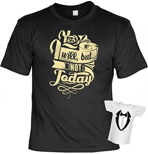 T-Shirt mit Motiv mit lustigem Spruch - Yes I will, but not today - Funshirt et mit Minishirt als Geschenk oder originelles Outfit