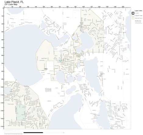lake placid fl zip code map Amazon Com Zip Code Wall Map Of Lake Placid Fl Zip Code Map Not lake placid fl zip code map