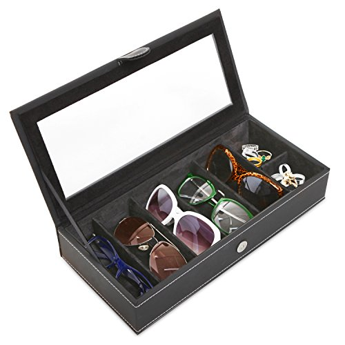 Leatherette Sunglasses Storage Jewelry Display