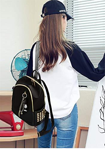 Wild de Mochila Mochila Fashion Oxford Negra Trompeta Cloth estudiante Student New femenina Marea Star mochila R8Cxwf