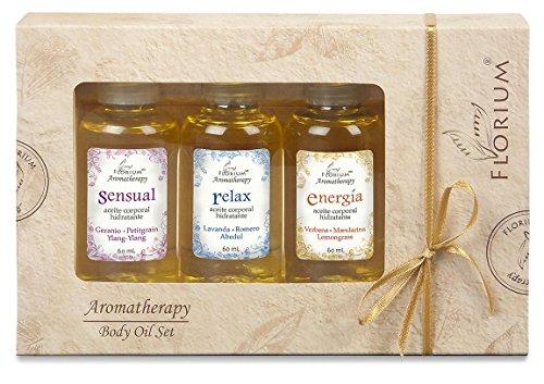 Body Oil Set - Kit de Aceites Masaje / Hidratación de Aromaterapia Caja de 3 x 60 ml c/u